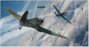 """Bf 109E-3 vs Spitfire Mk I """"Rotol"""""""
